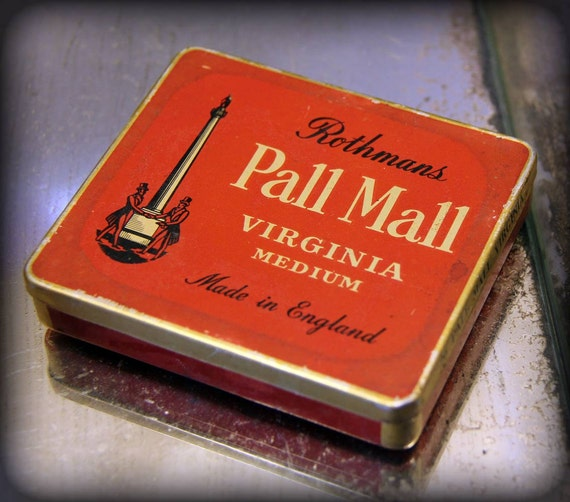Antique Rothmans Pall Mall Cigarette Tobacco Case 1940s Made in England