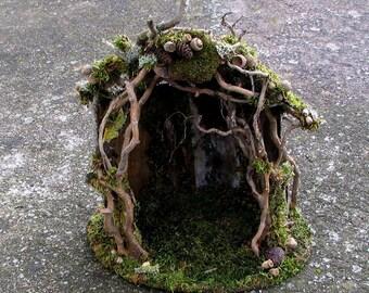 Elfin Shelter, Faery House, Custom Order, Woodland, Dollhouse