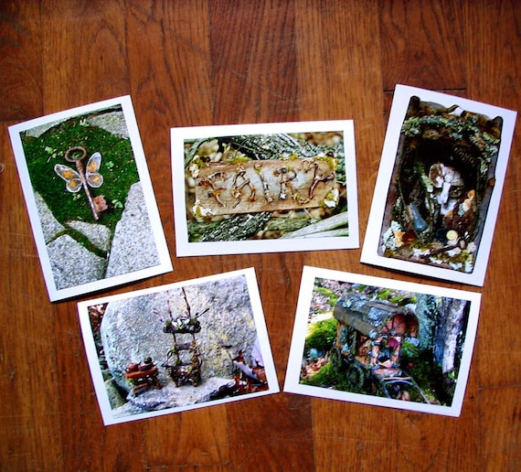 Fae Realm Cards, fairy cards, blank greeting cards, art cards, fairy house, fairy accessories, fairy photos, magic cards, nature cards