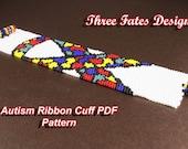 Autism Ribbon Cuff PDF Pattern