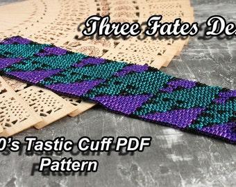 80s Tastic // Cuff Pattern // Bracelet // Peyote Stitch // Gourd Stitch