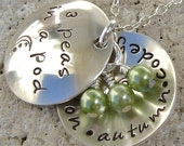 Reserve For ...mariahs333...3 Peas In A Pod - Domed Pods...2 necklaces