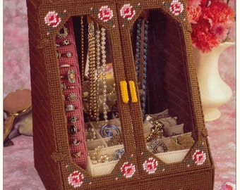 Jewelry Cabinet  ~   plastic canvas pattern