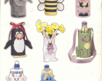 Bottle Buddies ~  plastic canvas instruction book
