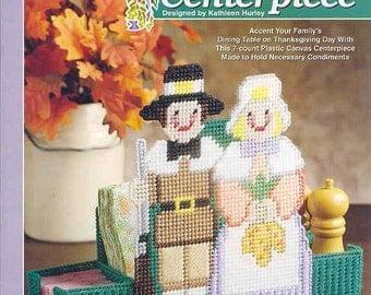 Pilgrim Centerpiece ~    plastic canvas leaflet