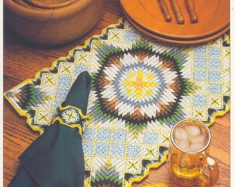Country Sunrise Set ~   plastic canvas pattern ~ Kitchen / Dining Room Table Setting pattern