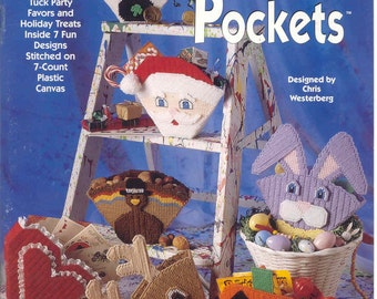 Party Pockets ~  plastic canvas book