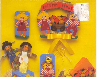 Autumn Harvest  ~  plastic canvas leaflet