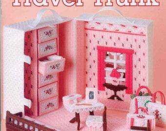 Fashion Doll Travel Trunk ~    plastic canvas book  ~   NEW BOOK for fashion dolls
