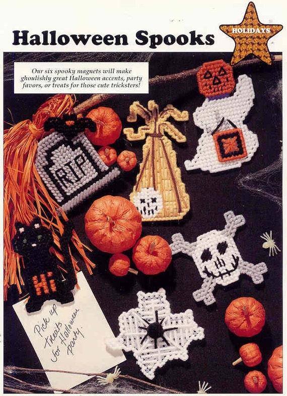 Halloween Spooks ~  plastic canvas pattern