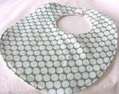 Full Moon Polka Dot in Blue - Boutique Bib - Amy Butler fabric with snag free velcro