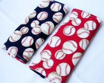 Reversible Car Seat Strap Covers - Play Ball Baseball - Great for Boys and Girls