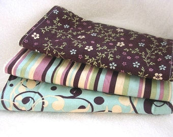 Sweetly Elegant - Baby Girl Burp Cloth Gift Set - 3 coordinating burp cloths