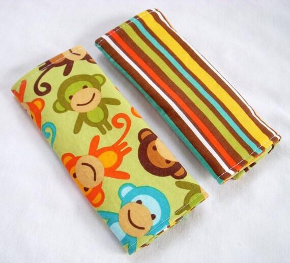 Reversible Car Seat Strap Covers - Monkeys in Bermuda - Seatbelt Covers