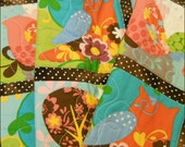 Its a Hoot Baby Girl Quilt with Owls and Birds