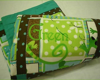 Green Nature Friends Stroller / Bassinet Quilt