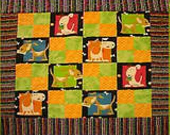 Big Doggy / colorful puppy dog stroller / bassinet quilt for baby