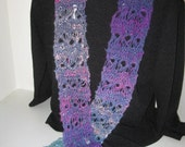 Tie Dye Delight - Handmade Multicolor Knit Scarf
