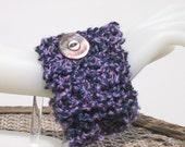 Pastel Easter - Handmade Purple Knitted Wristcuff