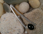 Swingin Onyx Pendant, Sterling Silver, swish
