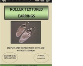 How to Make Jewelry -  Roller Textured Earrings Tutorial