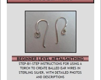 Balled Ear Wire Tutorial