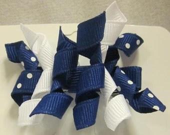 Girls- Mini korker ribbon alligator clip - single