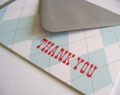 Thank You- Set of 6 folded blank cards