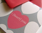 I heart you- valentines cards set of 6