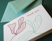 Blooms- Thank You set of 6