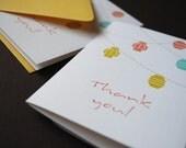 Lanterns- set of 6 thank you cards