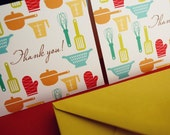 Large Set- Thank You- kitchen tools cards, set of 50