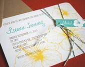 Vintage Hawaiian invitation set, 28 invites