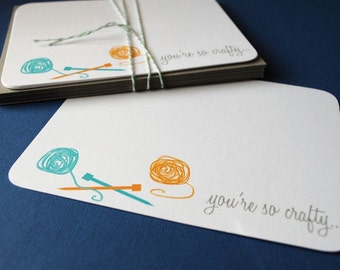 Youre so crafty... set of 8 flat cards