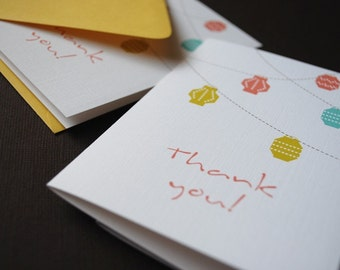 Lanterns- set of 6 thank you cards