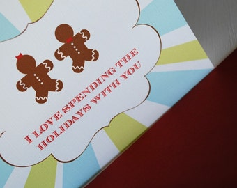 I Love Spending the Holidays with You- single greeting card