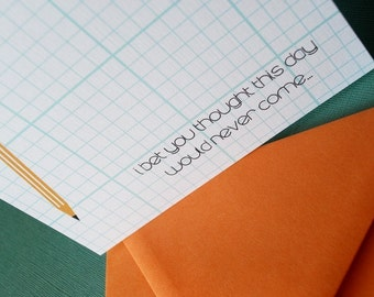School Paper- Graduation card