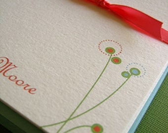 Design 01- Personalized Stationery Set of 8
