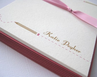 Design 06- Personalized Stationery Set of 8