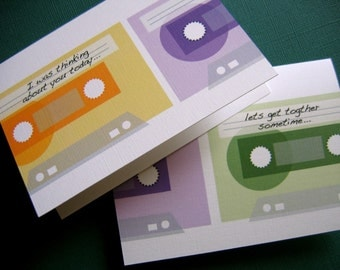 Mix Tape- Vol 1, set of 6 BLANK For you to write your own message.