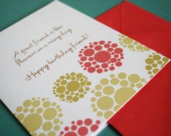 Birthday Friend- single greeting card