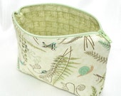 Zipper Cosmetic Pouch -- Bugs Among the Ferns