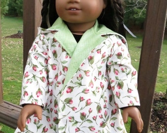 Garden of Roses coat for American Girl/18 inch dolls