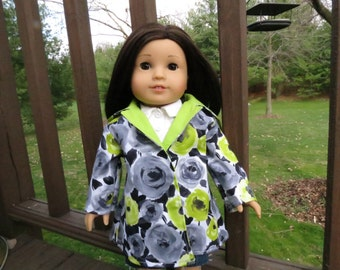 Painted Roses coat for American Girl/18 inch dolls