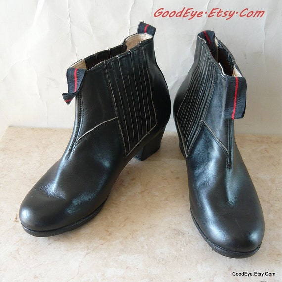 Unisex Dancers Ankle Boots size 8  Eu 38 .5 UK 5 .5 Leather THEATER Tap  Black Never Worn