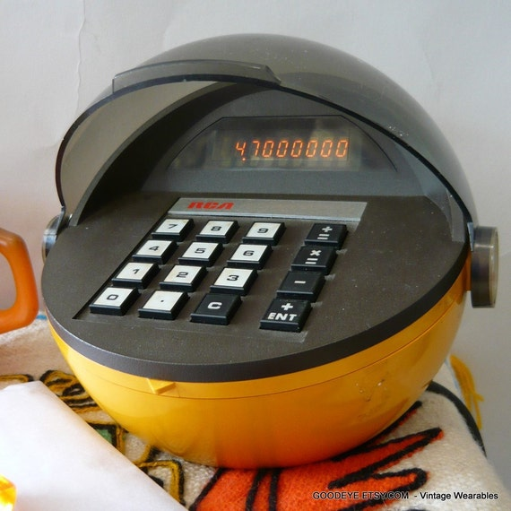 60s Mod Rca Calculator Round Space Age Desktop Electric