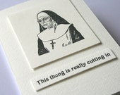 Thong Undies Nun Greeting Card