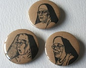 Trio of Nuns Large Fridge Magnets