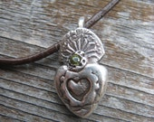 Silver Sacred Heart Charm