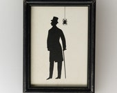 Uncle George, framed silhouette art piece